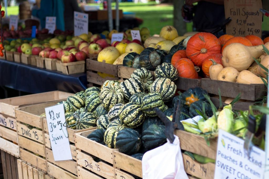 Farmer's market in the community